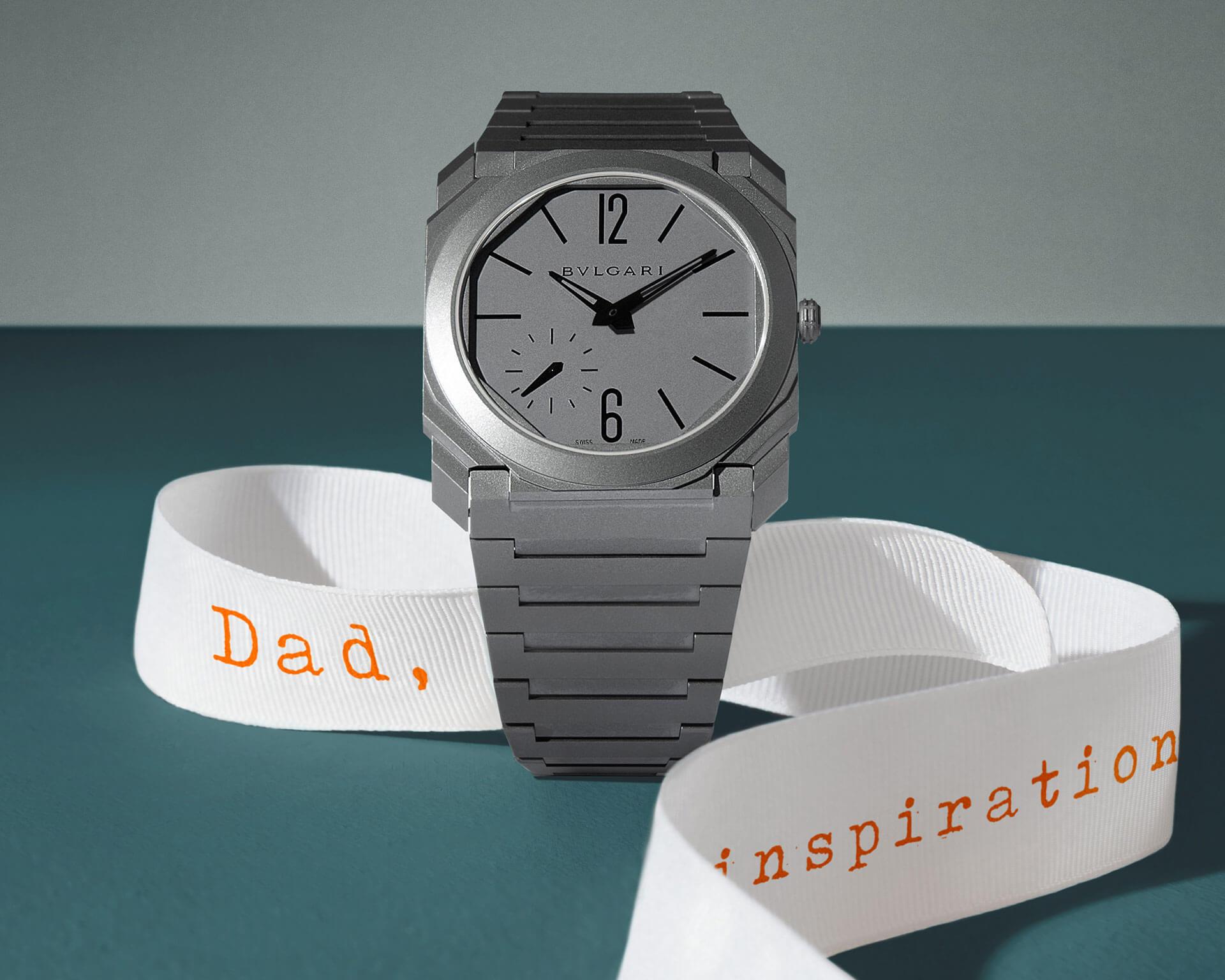 鈦金屬Octo Finissimo Automatic自動腕錶。