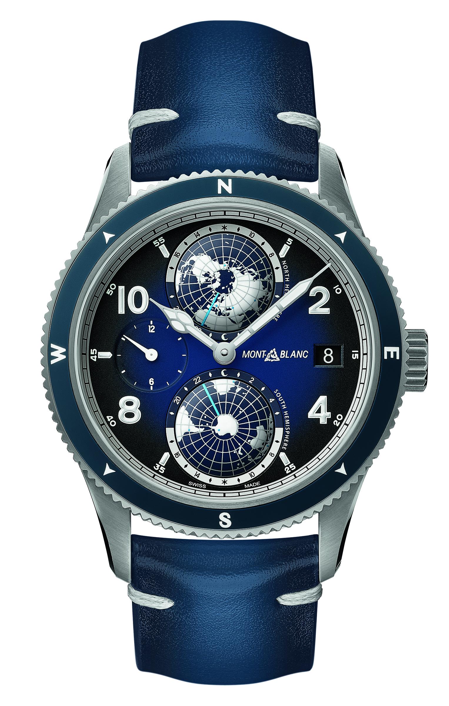 1858 Geosphere世界時區腕錶($45,600, Montblanc)