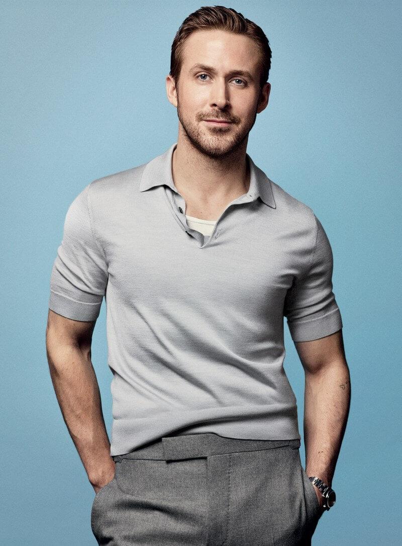 Ryan Gosling這身打扮,則更見美式隨性。