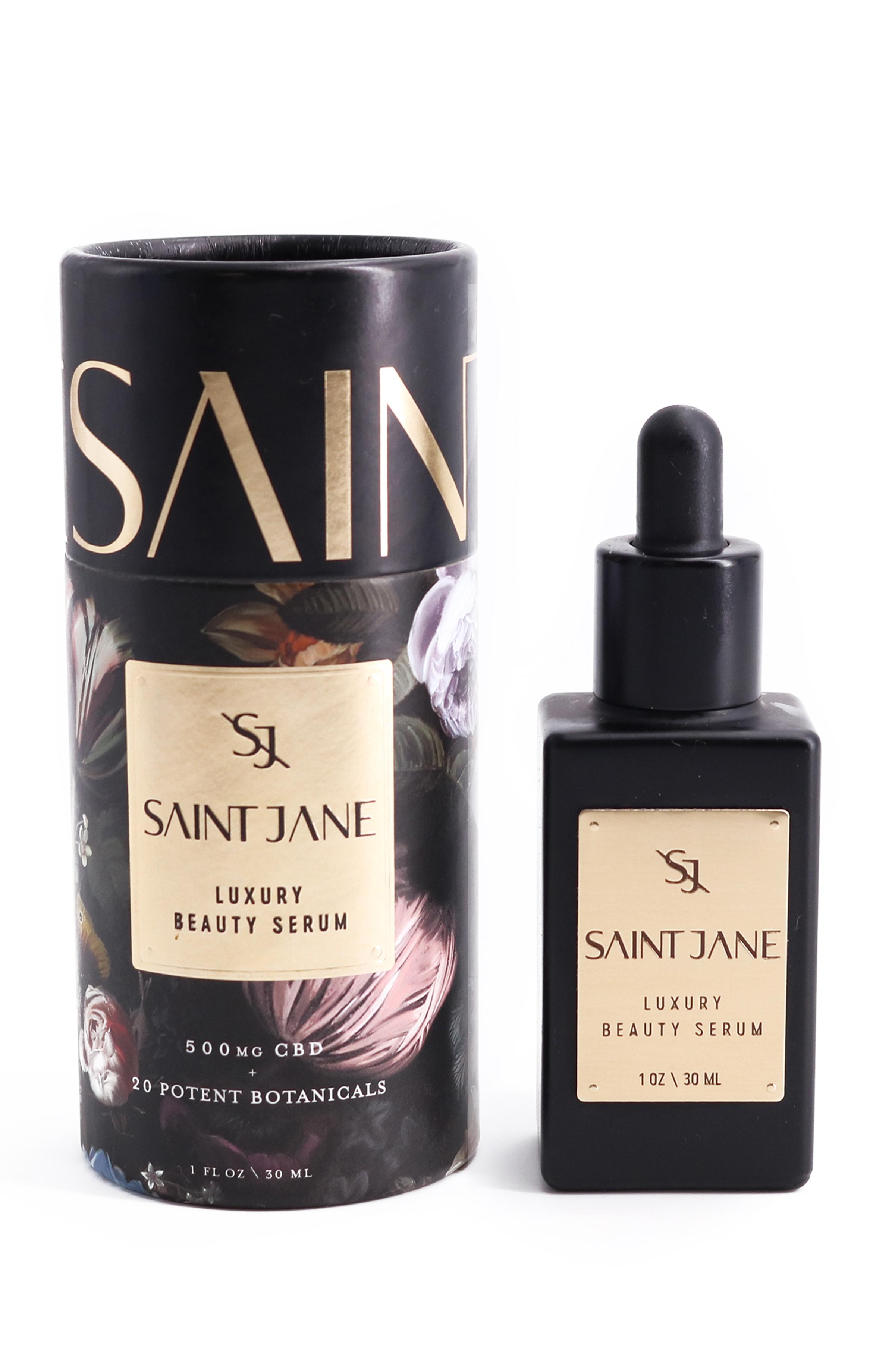 Saint Jane Luxury Beauty Serum HK$1,100/30ml 500毫克全譜大麻二酚 品牌得獎的強效面部精華,能糾正多種肌膚問題的混合配方。每瓶蘊含20種植物精華,深層保濕及回復肌膚光澤。適合衰老肌膚,有效對抗紅印。