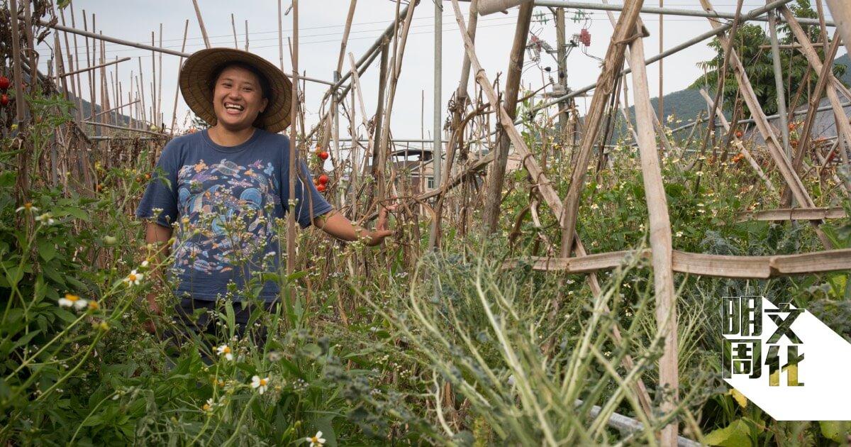 勞麗麗既是藝術家,也在生活館耕種十年,實踐半農半藝的生活方式。