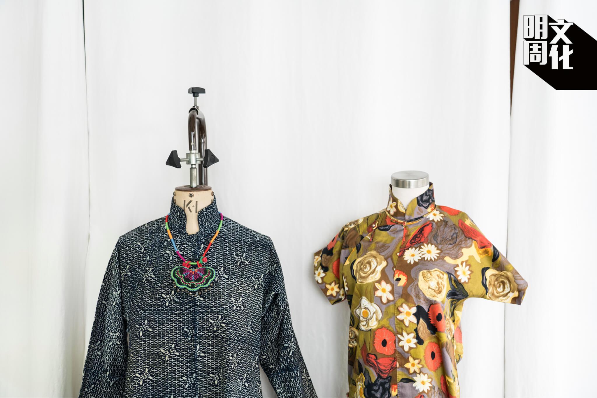 青青老師認為,旗袍工藝的神髓在於燙拔與漿糊等傳統技術,是無法取締的。「為甚麼師傅用燙斗燙一下,整個立體就出來了呢?有胸、有肚,不是因為打了褶。」