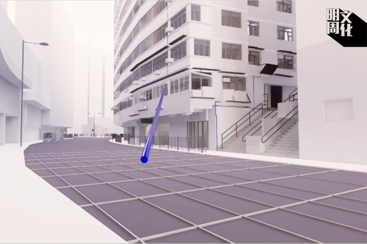 目擊者的證詞把警方可能發射催淚彈的範圍收窄,學生Echo利用電腦程式在逐個方格的四角模擬催淚彈可能進屋的路徑。