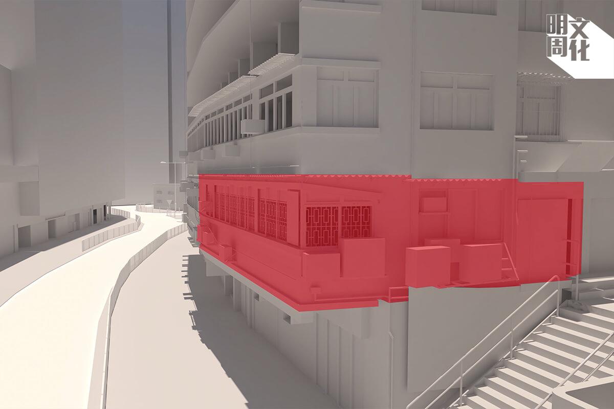 梁太太的單位位於一樓,轉角位就在通往山林道的樓梯旁邊,斜對着草地滾球會。