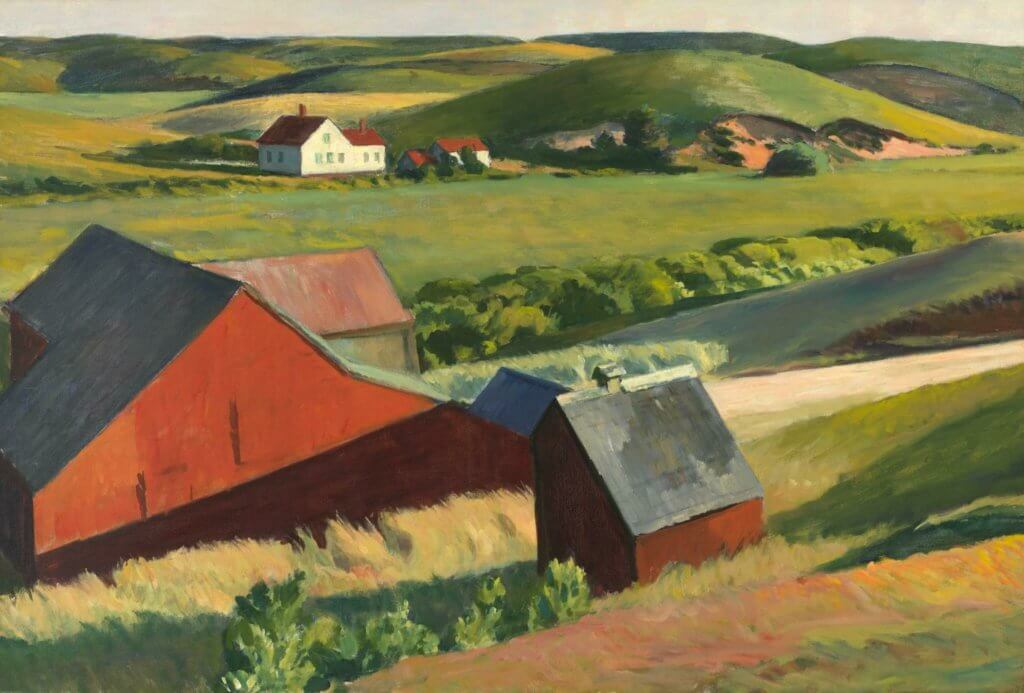 《Cobb's Barns and Distant Houses》1930–1933