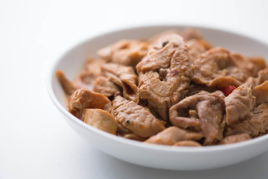 川味麻辣豬大腸,肥潤可口,配湯麵也不錯。($68)