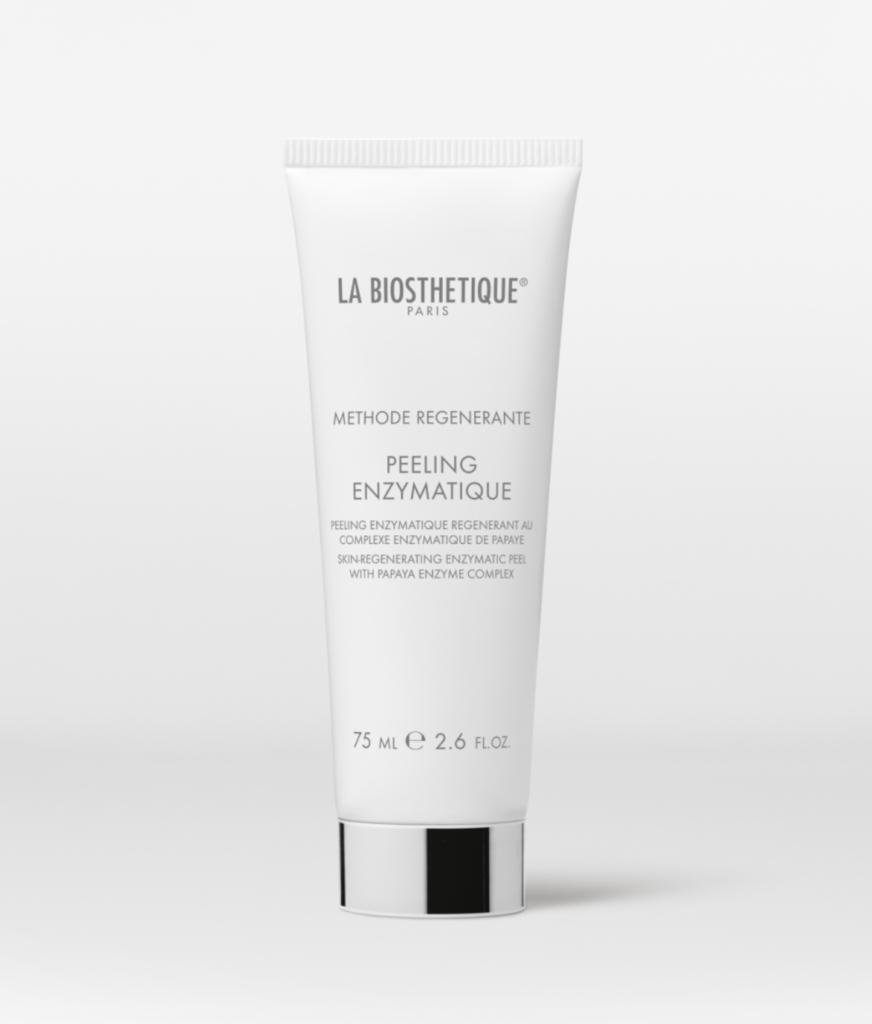 LA BIOSTHETIQUE光采煥顏活力去角質乳霜 $320/ 75ml 這款乳霜含蛋白質分解酵素,幫助在清潔過程中鬆開和去除肌膚表面污物、多餘的老化角質層,強調不會刺激肌膚和引致泛紅。內含的褐海藻糖提供足夠水分,潔面後肌膚亦不會感到繃緊。