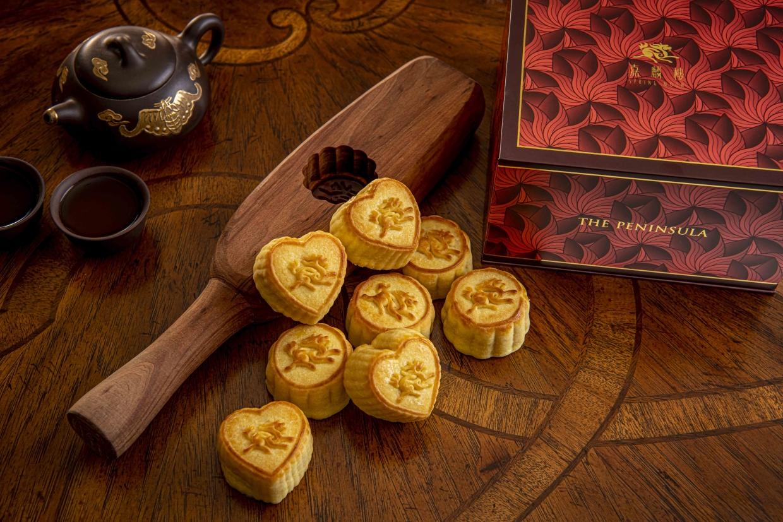 迷你心形奶皇月餅(8件,$630)