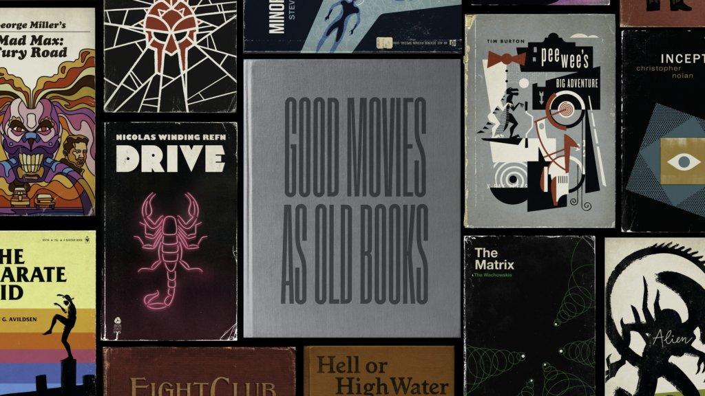 美國設計兼插畫師,則把喜歡的電影,「改編」成古本書封。