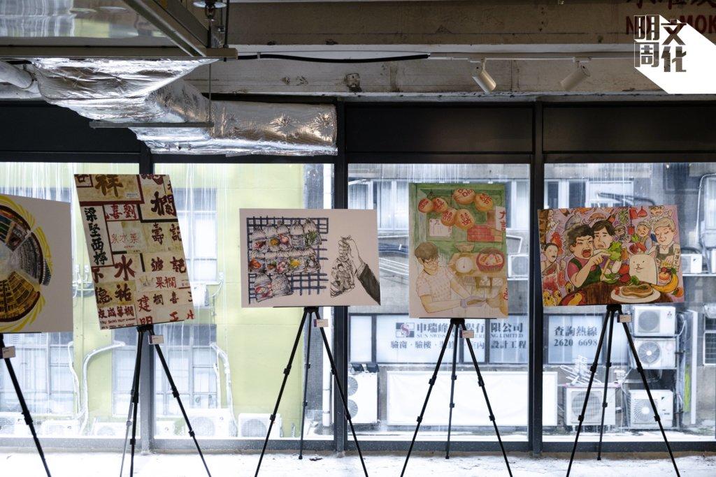香港知專設計學院學生在導師帶領下走進油尖旺寫下,畫下社區人文風貌。