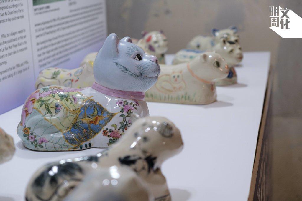 賽馬會鯉魚門創意館工作坊教授從前鯉魚門的一大工作陶瓷,展覽借來展品。