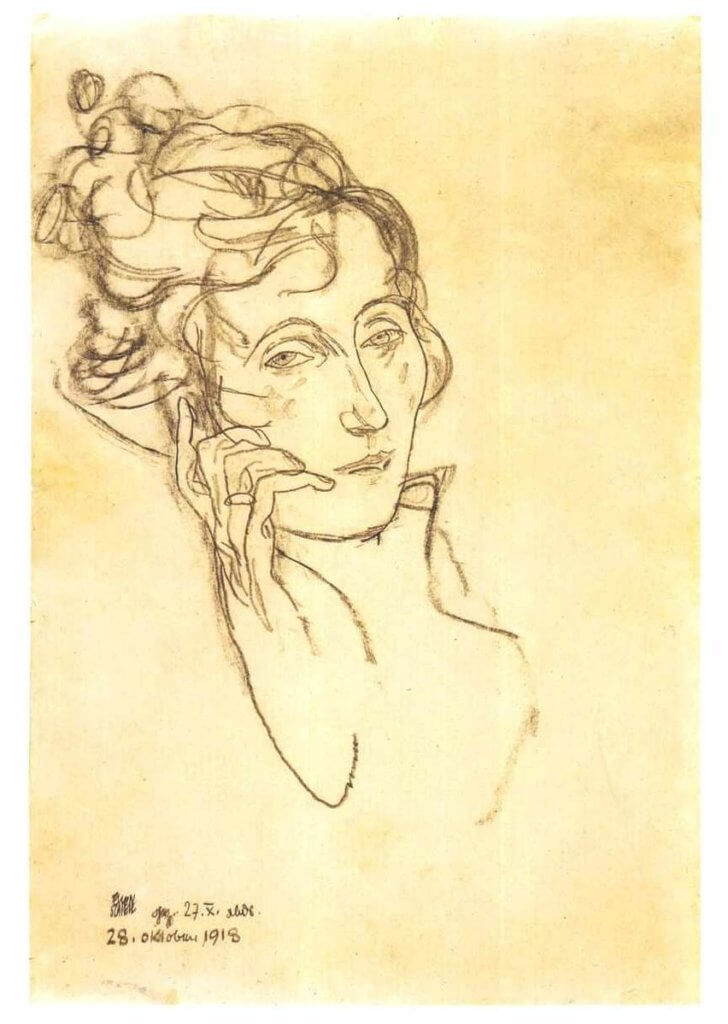 《Portrait of the dying Edith Schiele》1918