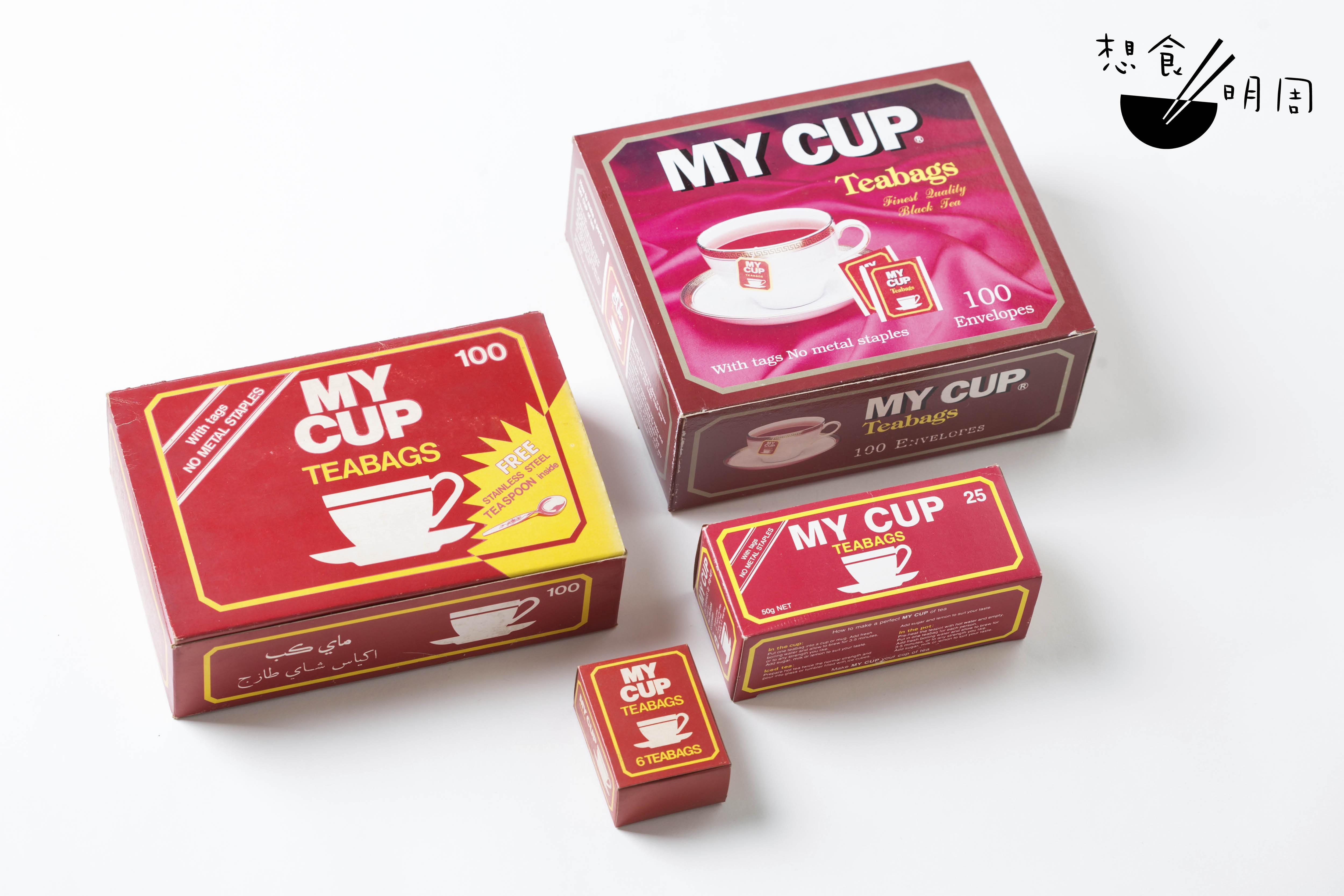 王芝泰成立公司之初,以陸羽之名賣中式茶包前,曾出售斯里蘭卡紅茶。如今把大小紙盒拼湊在一起,有的骰如紙手巾的推銷樣版,也有附贈茶匙的百袋茶包大盒裝。