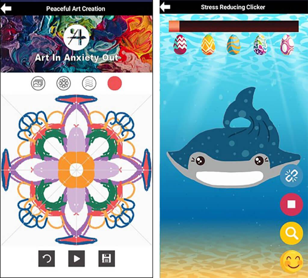AiAo全寫為「Arts in, Anxiety out」,透過各式各樣與藝術相關的元素,例如曼陀羅繪圖板、Kalimba 琴鍵盤等工具,幫助同學放鬆心情。