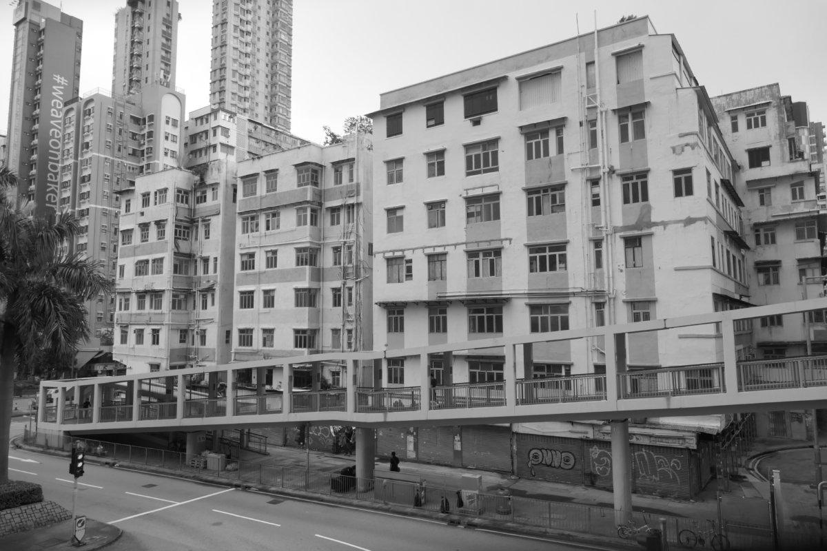 2020年8月30日,香港,九龍,紅磡,有待清拆的建築物(圖片由作者提供)