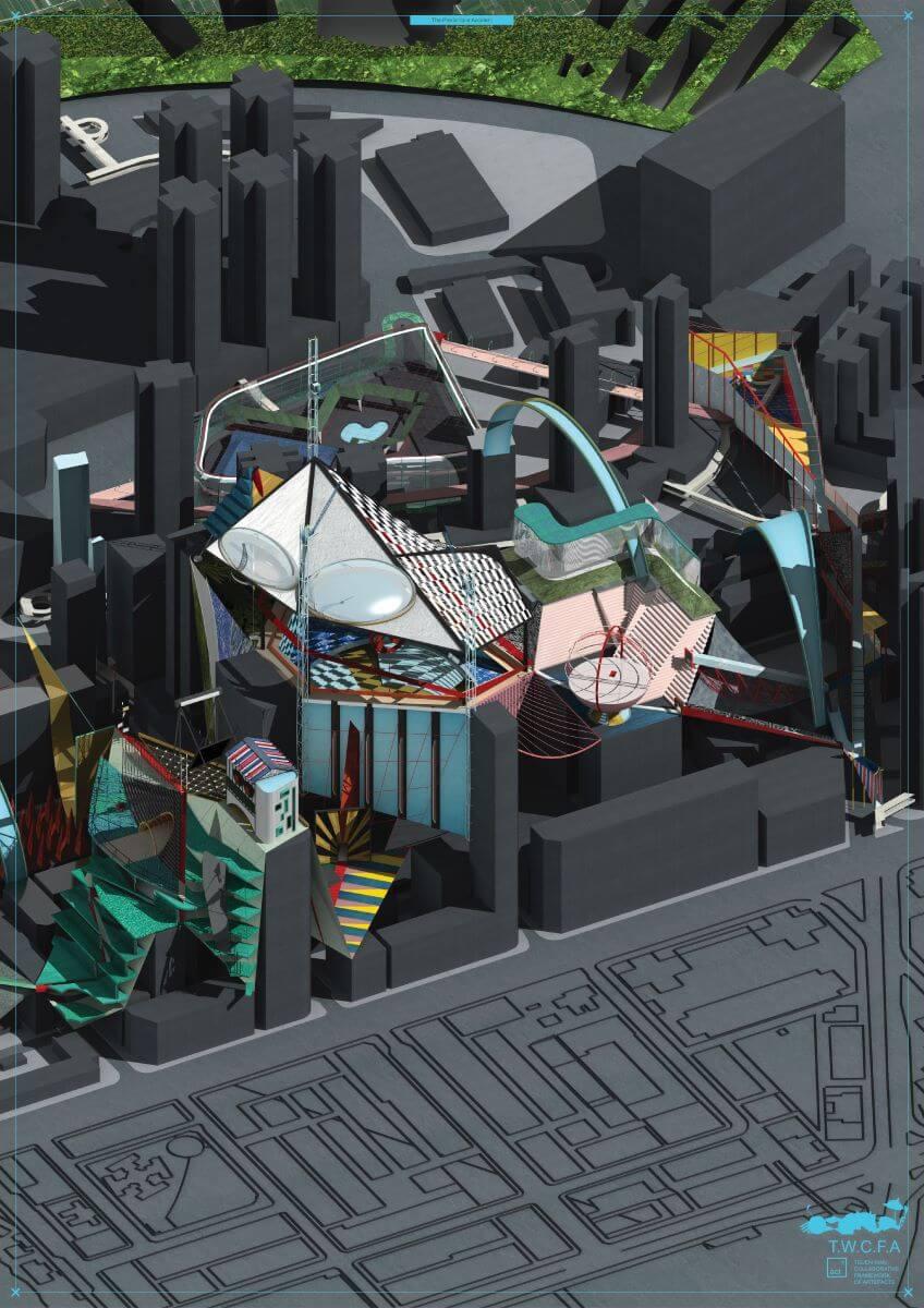 作品《在預料內的意外》重新構想荃灣天橋的可能性,幻想在天橋上舉行「香港節」,又製作了如彈珠機的裝置,帶出天橋可以如遊戲般好玩的奇思異想。