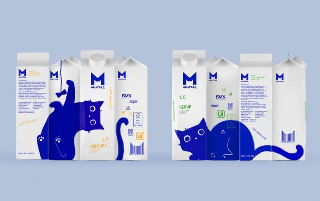 盒身四面各有不同圖案,左轉右轉,便能組合出一隻隻生動藍貓。