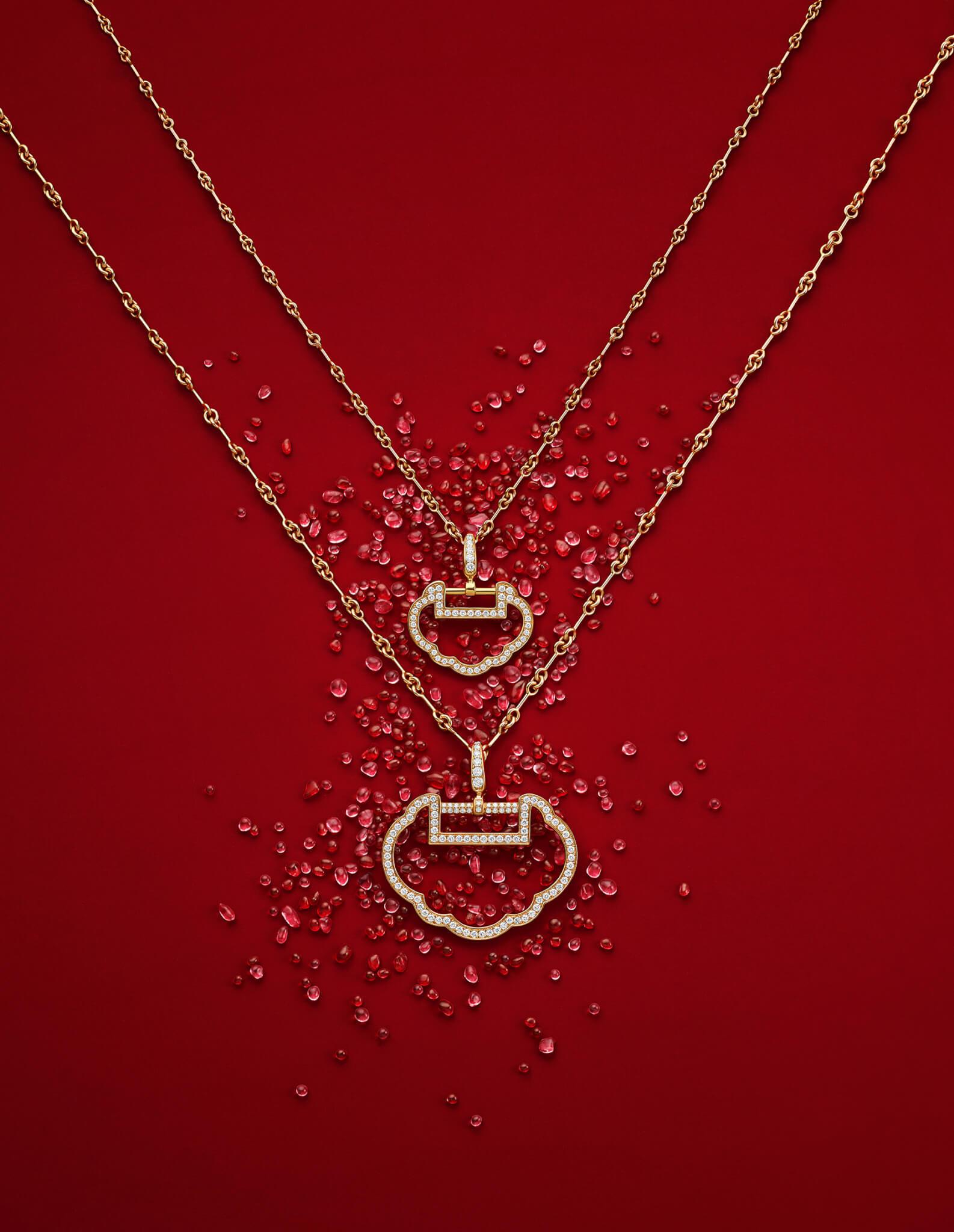 Yu Yi 18K 玫瑰金鑽石吊墜(小) $15,800 / Yu Yi 18K玫瑰金鑽石吊墜 (中) $35,800