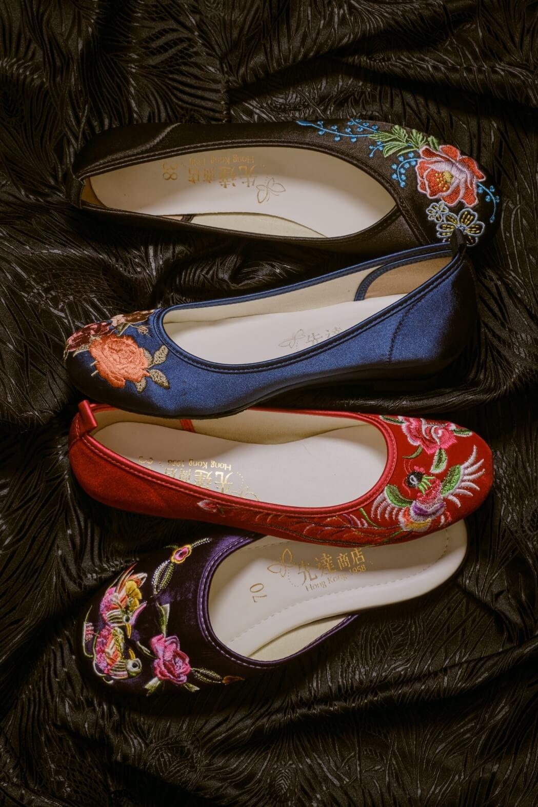 女鞋圖案分五大類:花、鳥、蟲、魚和瑞獸,自唐代起至晚清,都是太太們的摯愛。