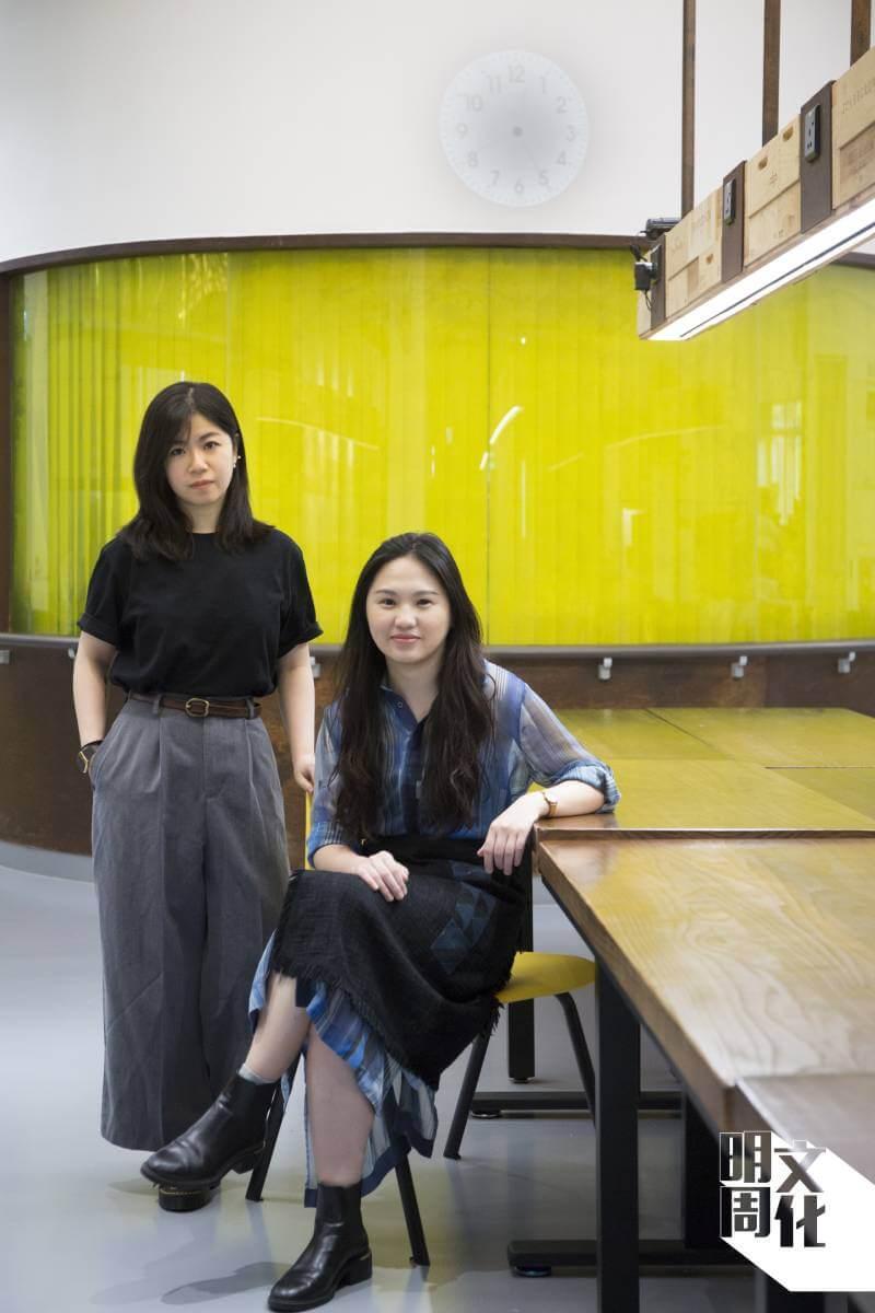WORK, SHEET. STUDIO的兩位負責人王玉玲(左)和楊詩雅(右)