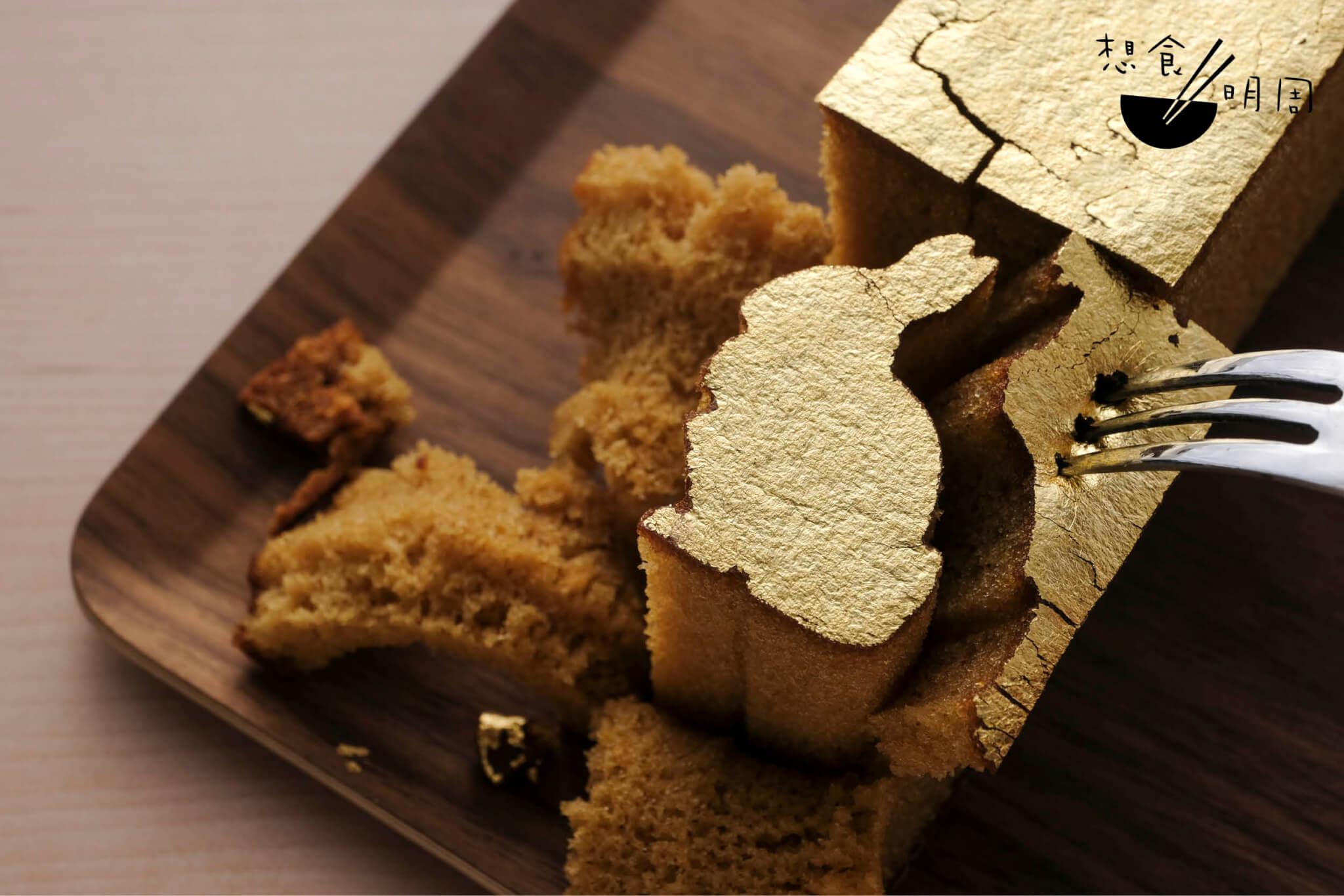金澤萬久 金箔蜂蜜蛋糕 ($198.8,一盒三件)