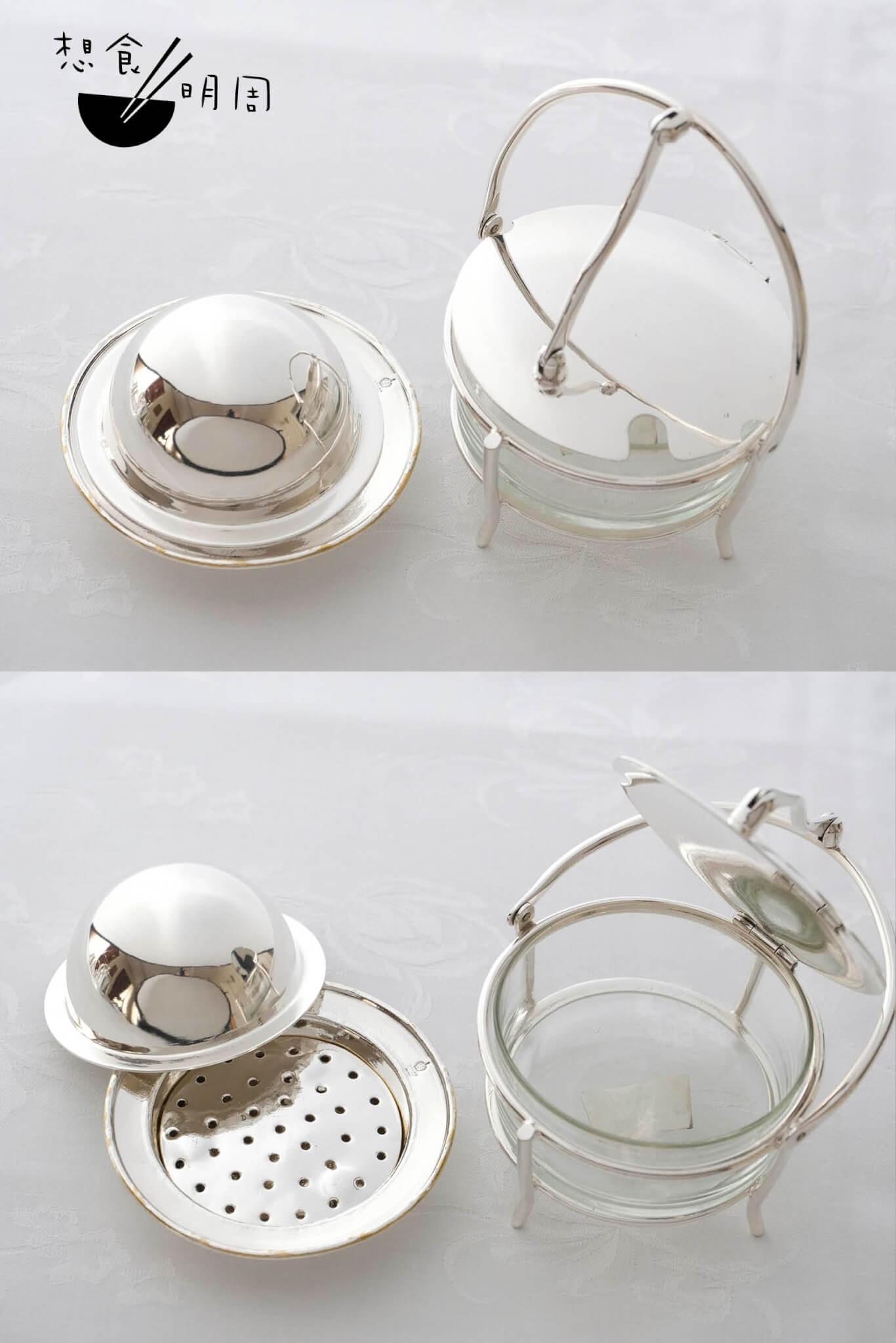 芝士粉壅、牛油碟 // 都是古早時期的用具,今日已成收藏品之一。另有田螺碟、粟米叉、蛋盅、玻璃杯架等,都是今日難以等見的。