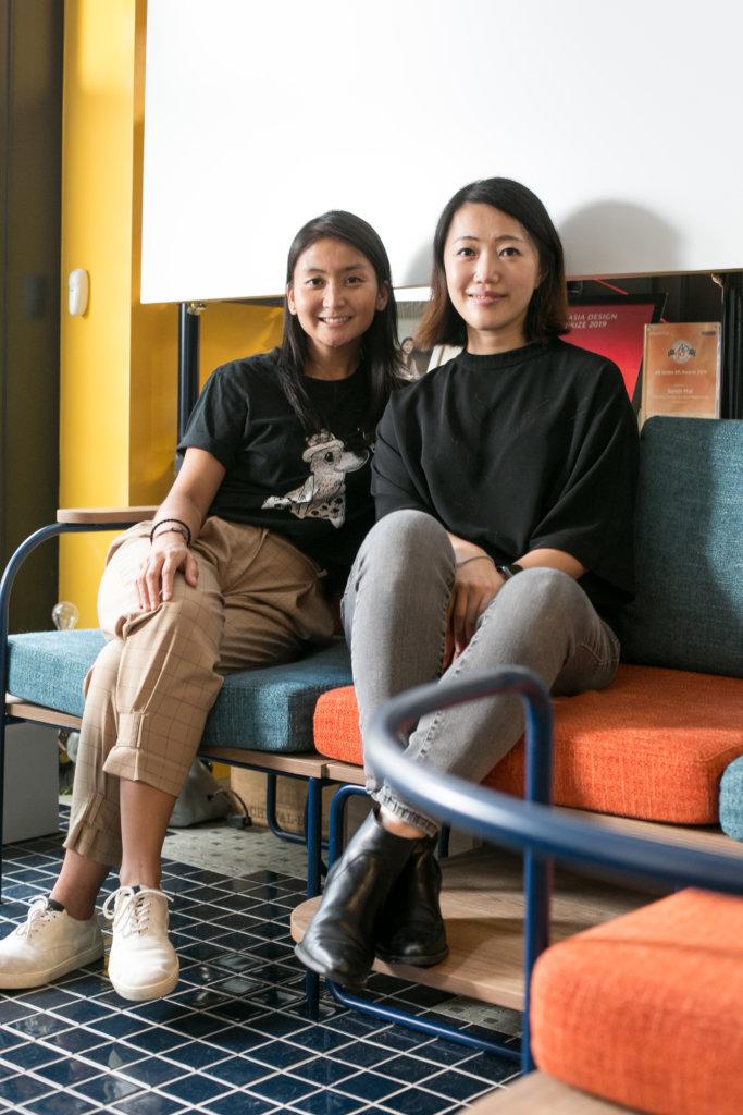 創辦人Patricia Lam(左) 和設計總監Sarah Mui(右)