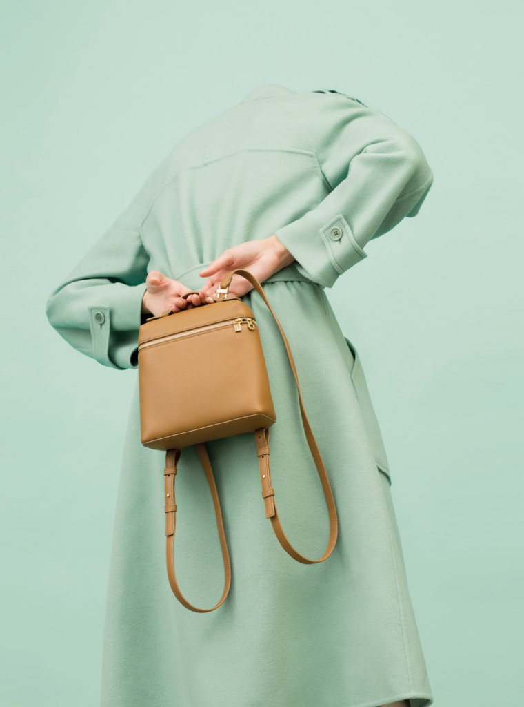 Kaelan coat in cashmere double $51,100 Extra pocket backpack in tender calf $14,500