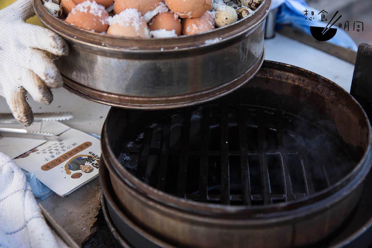 作鹽焗蛋的蒸爐。