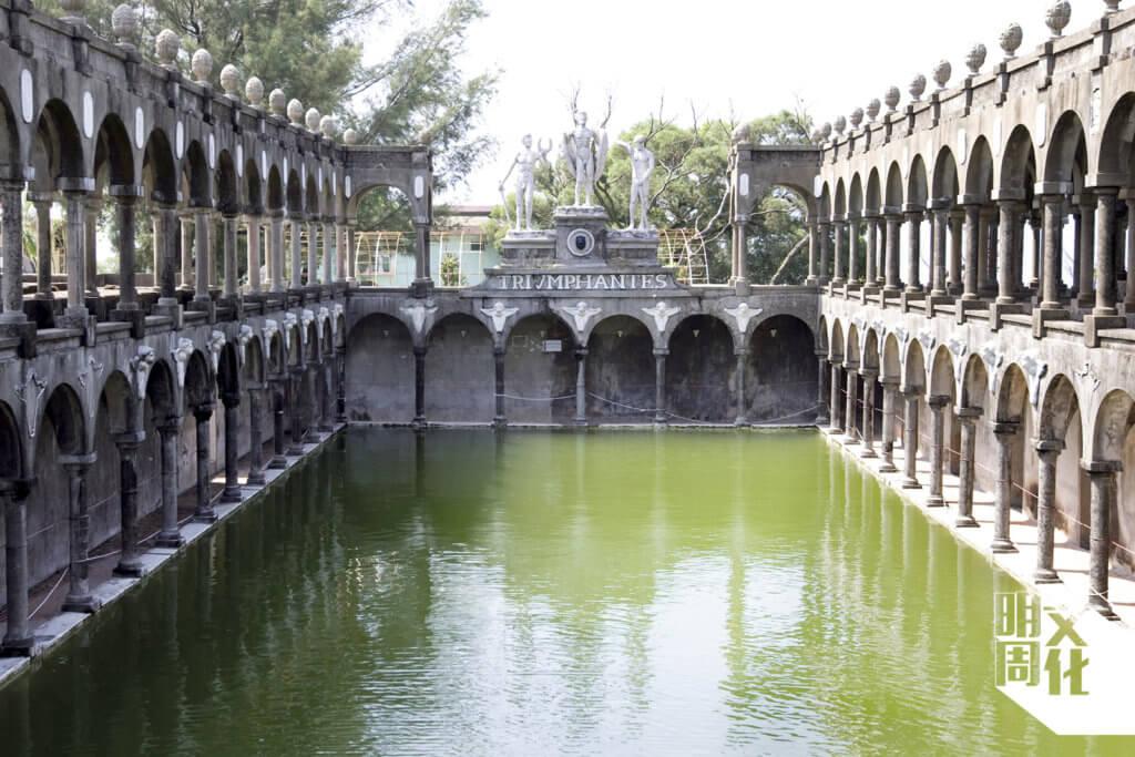 置身石鼓洲的羅馬池,感受古樸寧靜的氣氛。