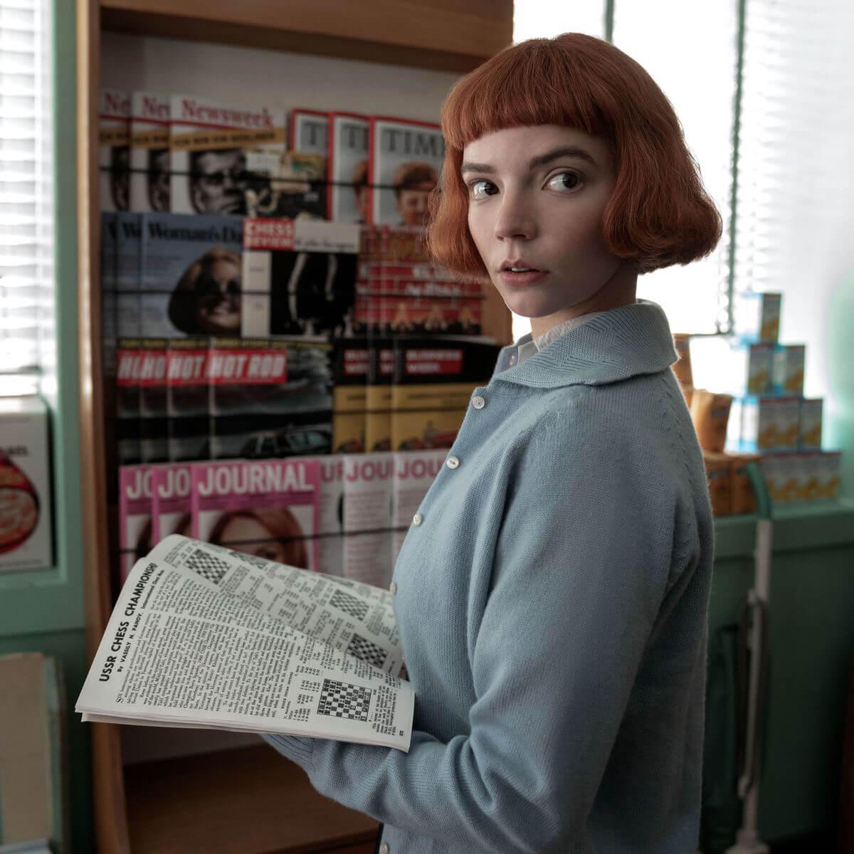 以素顏配短齊蔭飾演15歲Beth的Anya沒有一點遺和感。