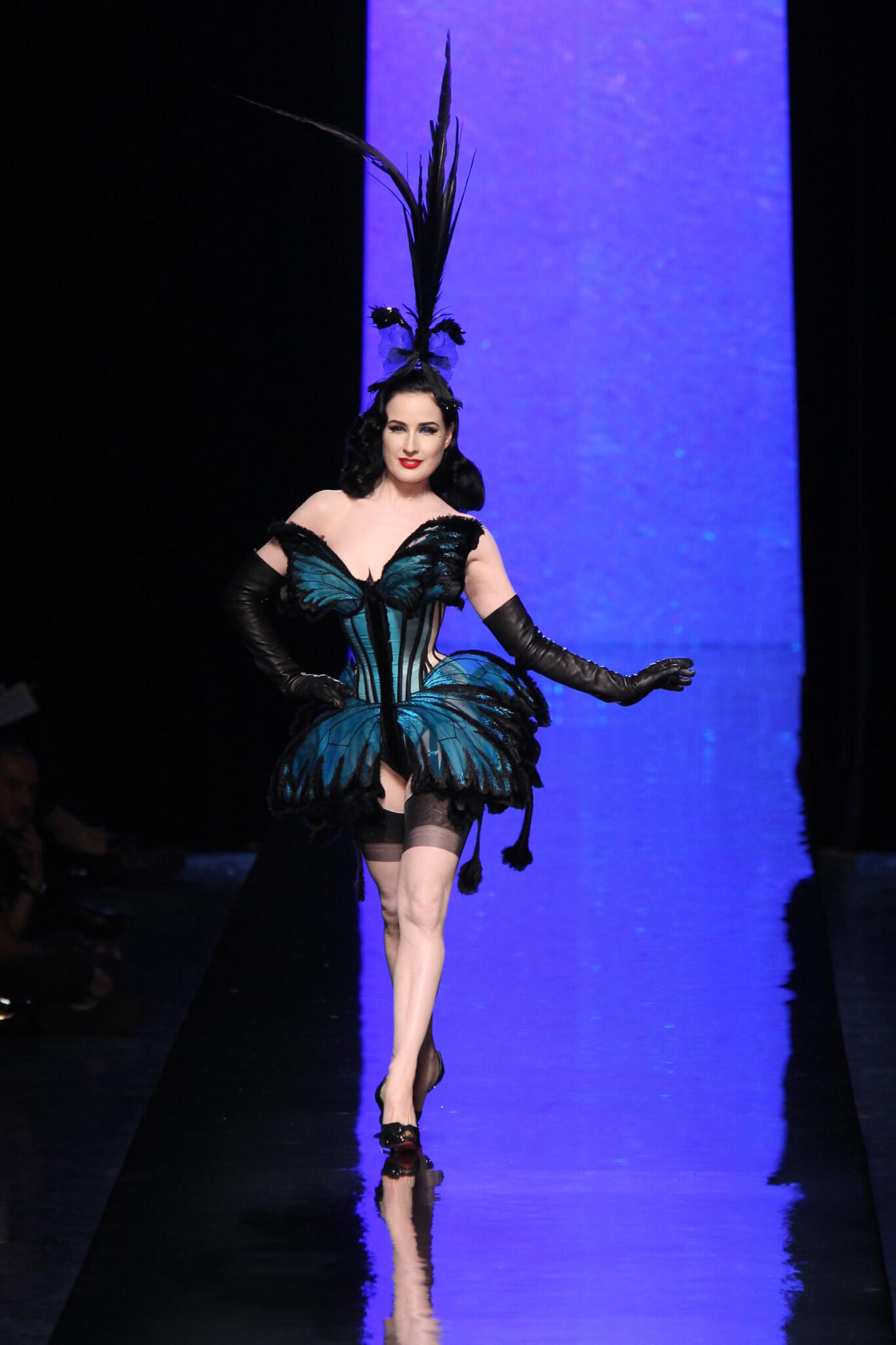舞孃Dita Von Teese是Jean Paul Gaultier天橋的常客