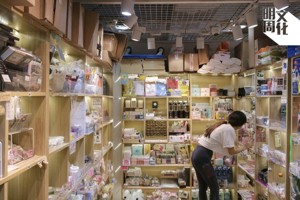 踏入蘋果商場,走廊兩側琳瑯滿目,有日本動漫精品店,有韓星周邊專門店,當然少不了擺滿鬼口水的格仔舖。