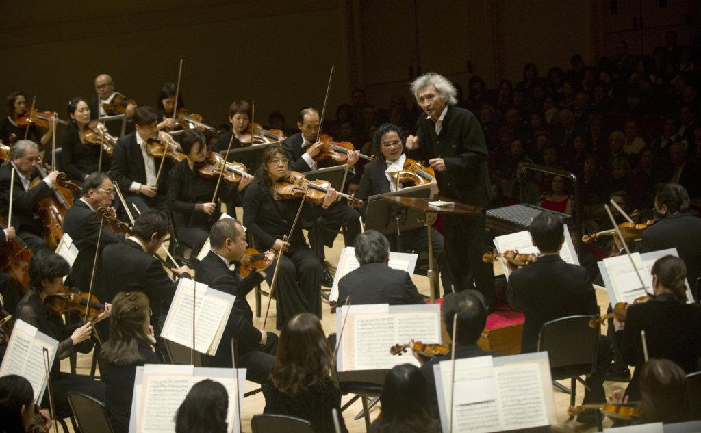 齋藤紀念管弦樂團獲音樂雜誌《留聲機》於二〇一〇年選為世界最頂尖的二十隊管弦樂團之一(圖片: 法新社)