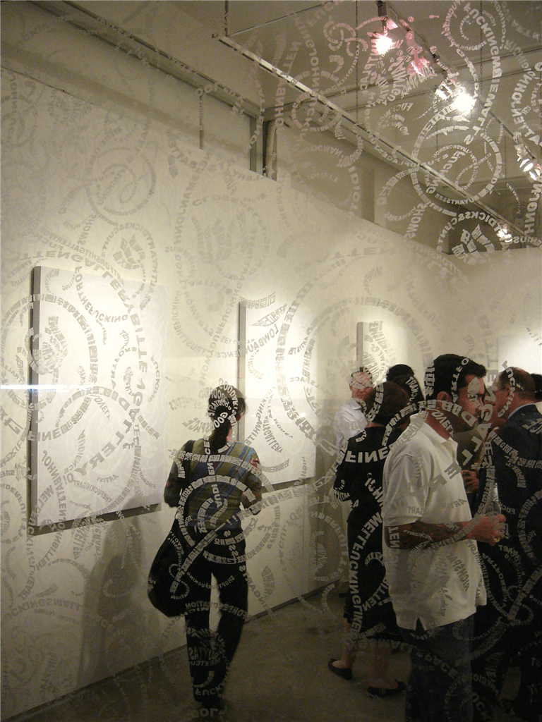 Tsang Kin-wah, installation view of White Cube exhibition at John Batten Gallery, 2005. (photo: John Batten)