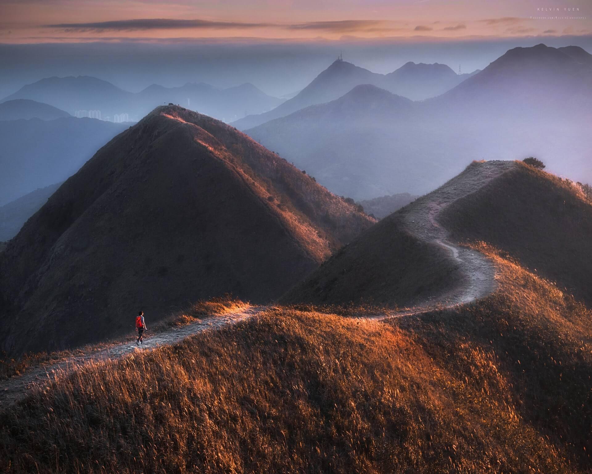 這張則是攝於馬鞍山,拍攝出香港山野的壯麗。
