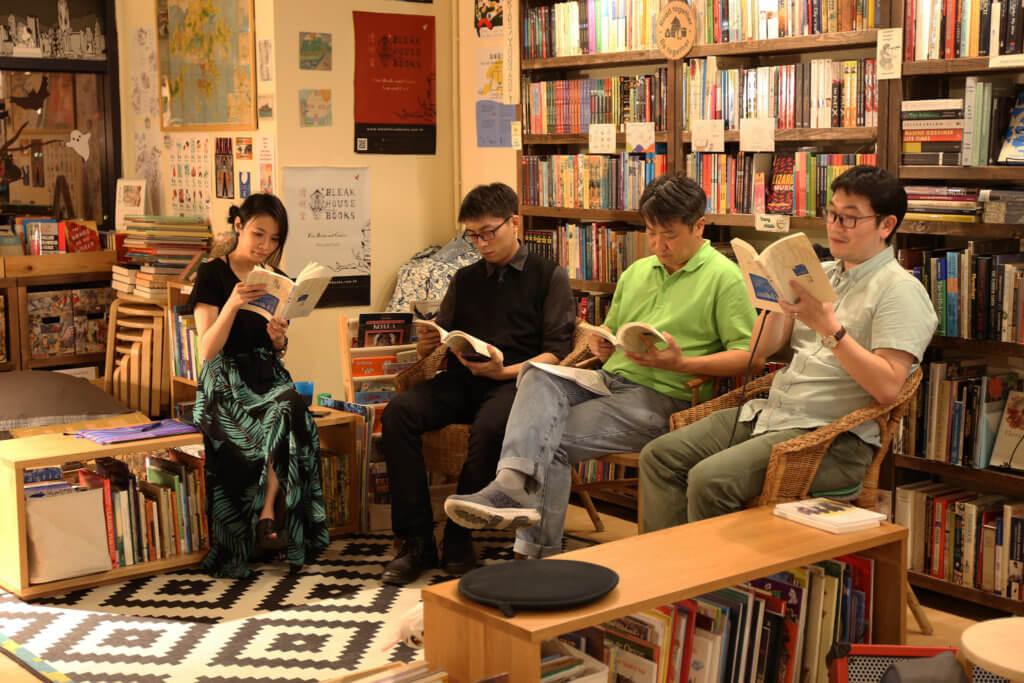 《茶:亞洲文學期刊》與「我城我書 」合作的「以粵語細說香港」講談會,會上嘉賓各發表對《我城》的看法,在「我城我書」Facebook可以重溫。圖片:我城我書