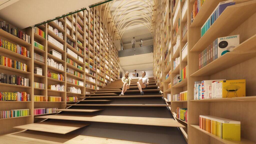 圖書館由著名建築設計師隈研吾操刀。