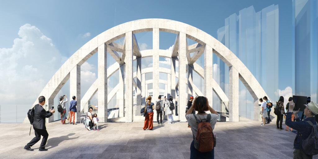 新世界稱,戲院天台將來或開放作休憩空間,讓公眾觀賞。(圖片:新世界提供)