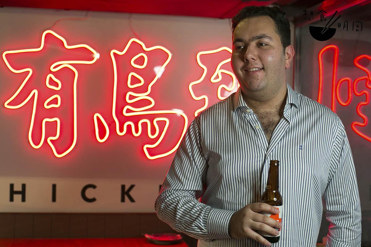 老闆Jordan Moss是澳洲人,他認為Peri Peri烤雞的最佳朋友是清爽的啤酒,因此他特地跟Hong Kong Beer Co合作,推出一款自家釀製Pillsner。