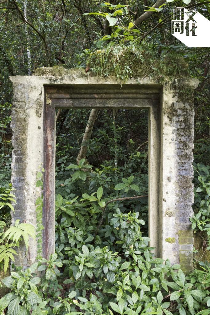 橫山腳村的村屋塌剩的門框