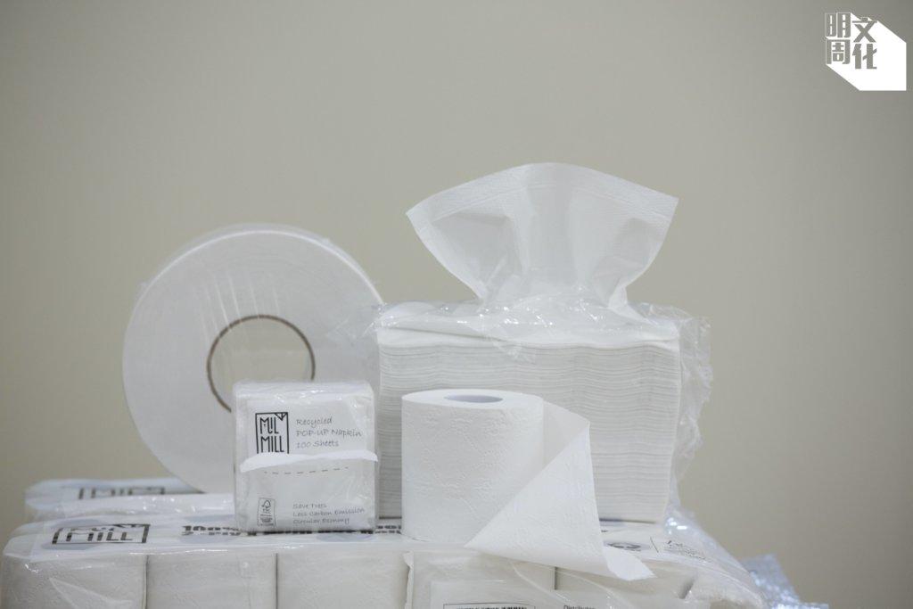 Mil Mill的再造紙巾由香港收集到廢紙製成,越南紙品廠負責生產。現推出廁紙卷、珍寶廁紙卷、三摺式抹手紙、抽取式餐巾紙幾種產品。其官方網頁說明,生產再造紙巾比原木漿紙環保,不用斬樹、減少用水、用電、碳排放及固體廢物量。