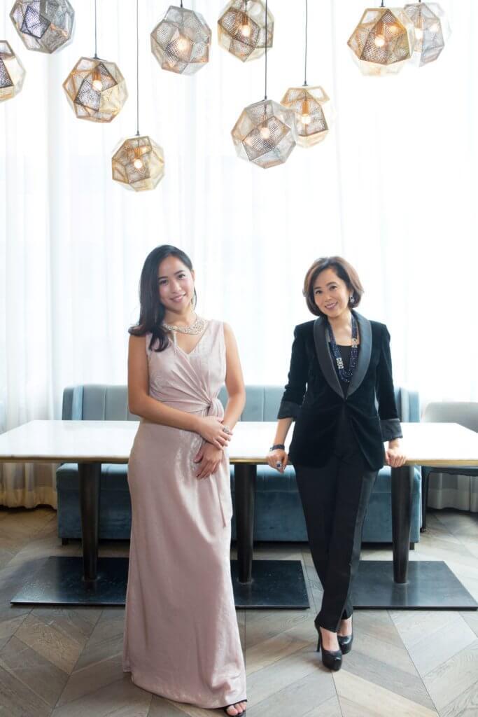 Cindy與女兒Jasmine對美學的理念相近,同是鍾情東西方融合的概念。