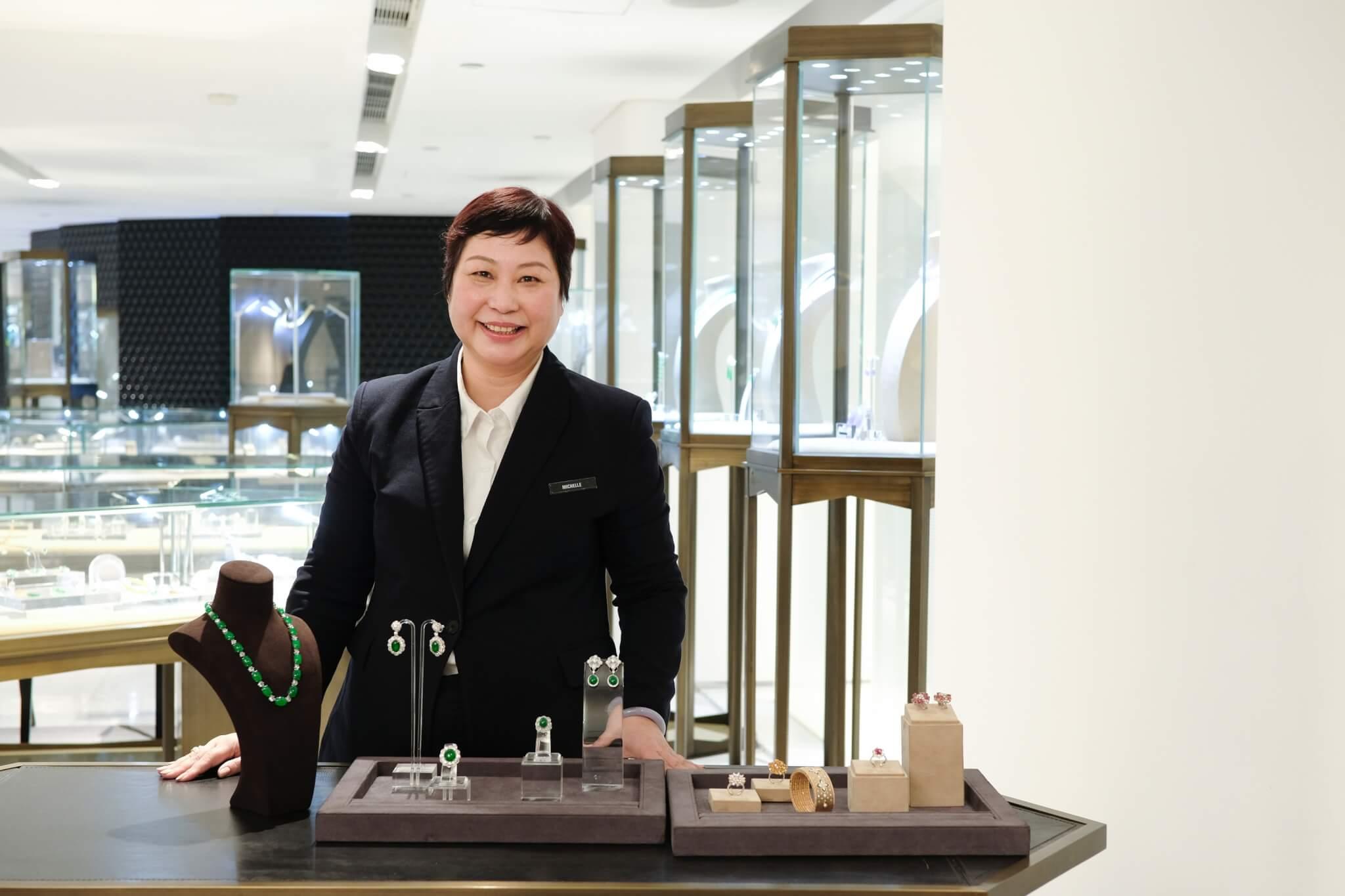 在連卡佛珠寶部工作多年,Michelle慶幸自己能為多代客人服務。