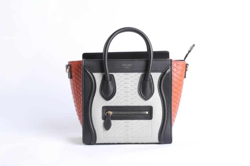 Celine 蛇皮 Nano Bag。($7,500)