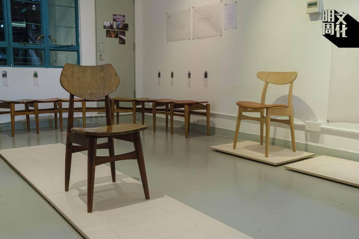 aona和草途木研社合作的《設計流變: 仿生與再生》透過研究一張廢棄的木椅子,了解設計流變的過程。