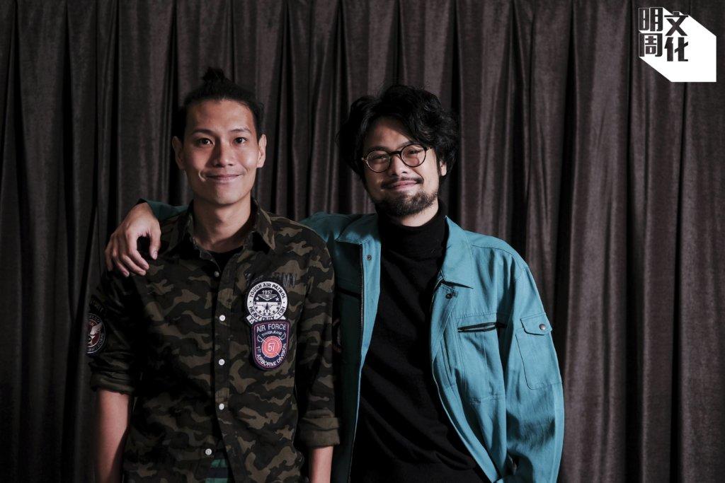 (右)《手捲煙》導演及編劇陳健朗;(左)《手捲煙》編劇凌偉駿
