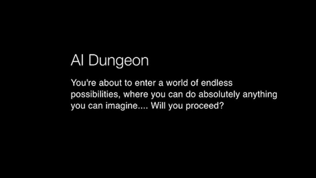 《AI Dungeon》有別於一般已預先編寫的遊戲,而是運用人工智能,由玩家自行決定冒險情節。