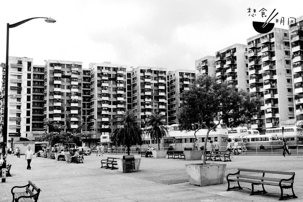 1974年北角邨。(照片由高添強提供)