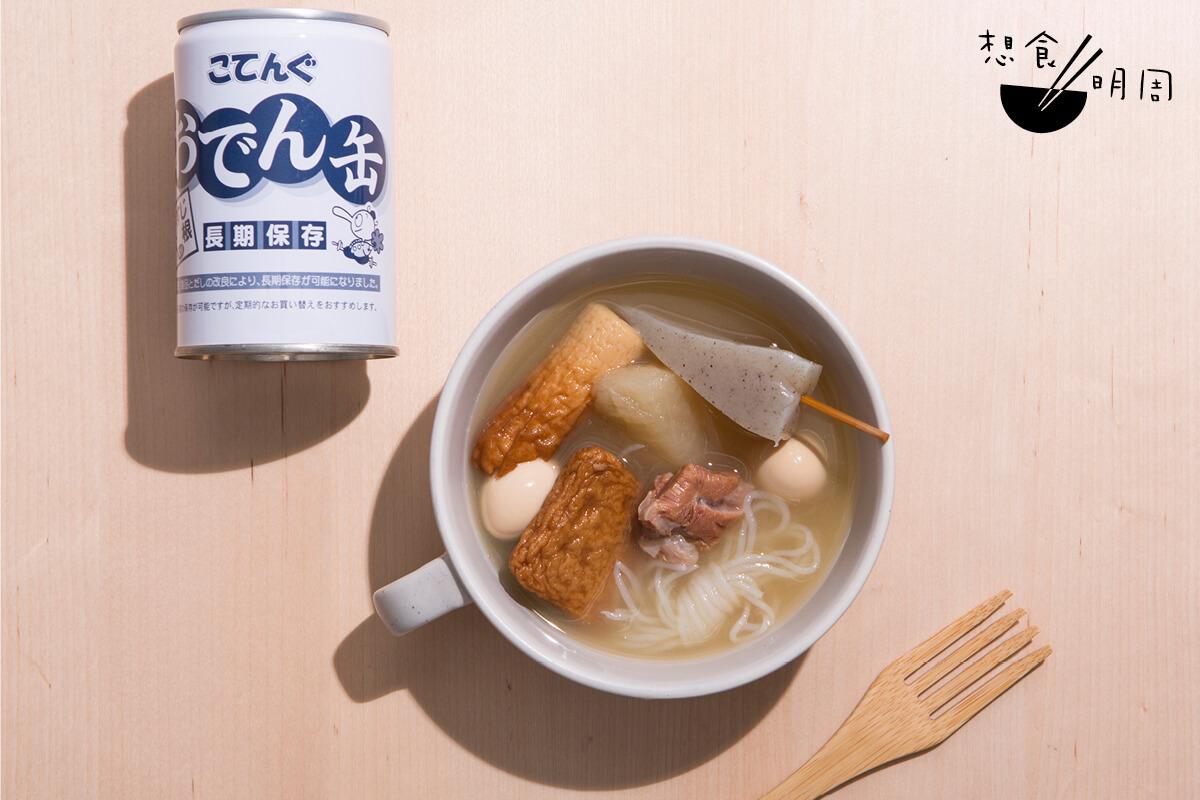 末日關東煮($70)// 翻查資料發現,關東煮罐頭誕生於1990年的秋葉原,當時還有已經關東煮罐頭自動售賣機。